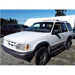 G1 --  1997 FORD EXPLORER , White , 198829  KM's