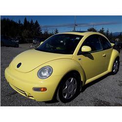 E1 --  2000 VW BEETLE GLS , Yellow , 201231  KM's