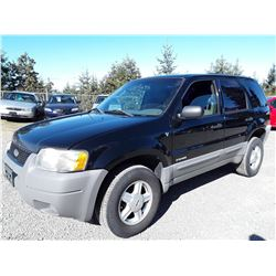 F1 --  2002 FORD ESCAPE XLS , Black , 160673  KM's