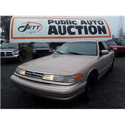 A3 --  1996 FORD CROWN VICTORIA , Brown , 240027  KM's
