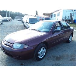 L5 --  2003 CHEVROLET CAVALIER , Red , 197974  KM's