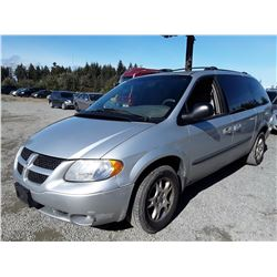 J5 --  2003 DODGE GRAND CARAVAV , Grey , 219639  KM's