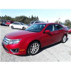 I6 --  2011 FORD FUSION  , Red , 239135  KM's