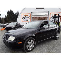M2 --  2000 VW JETTA GLS , Black , 275291  KM's