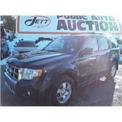 H2 -- 2008 FORD ESCAPE SUV, BLUE, 208,608 KMS