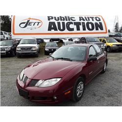 N3 --  2005 PONTIAC SUNFIRE SL , Red , 165868  KM's