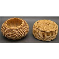 TWO CHEROKEE INDIAN BASKETS