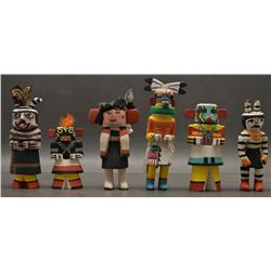 SIX RT 66 HOPI INDIAN KACHINAS