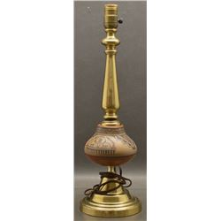 SANTA CLARA INDIAN POTTERY LAMP (LELA AND LUTHER GUTIERREZ )