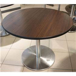 3FT ROUND CHROME BASE BAR TABLE