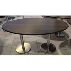 5FT X 3FT OVAL CHROME BASE  BAR TABLE