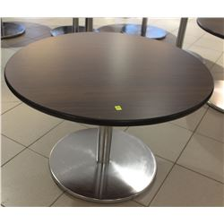 "30"" ROUND CHROME BASE  BAR TABLE"