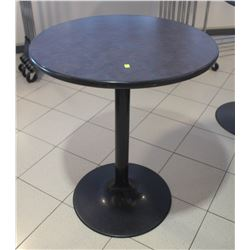 "32"" ROUND BLACK BASE  BAR TABLE"