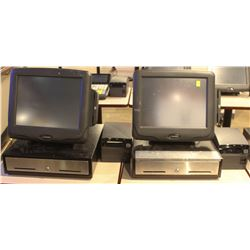 LOT OF 2 RADIANT POS SYSTEM W/ CASH DRAWER &
