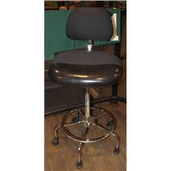 ADJUSTABLE CASHIER CHAIR WITH CHROME BASE