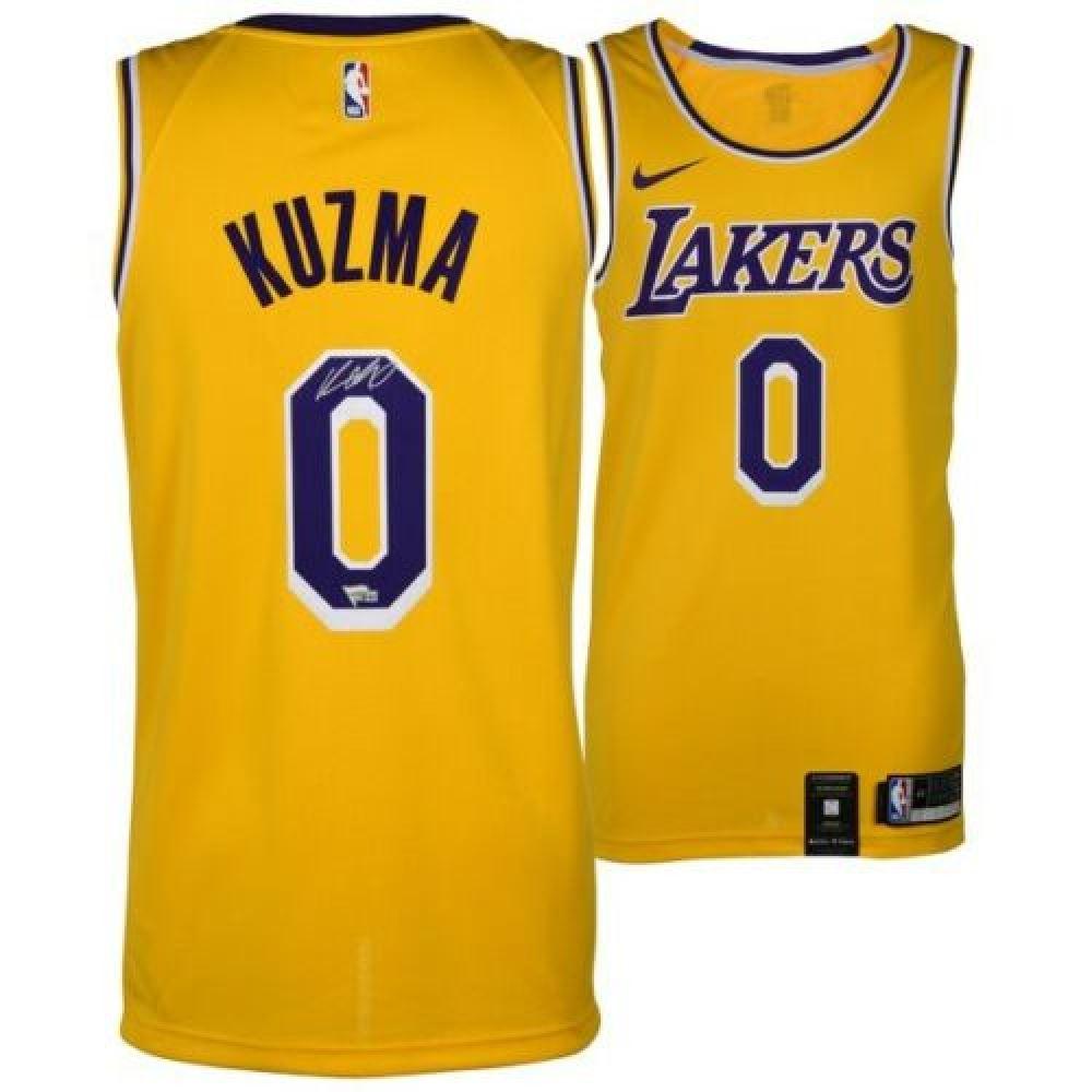 buy online 9f13f b77ba Kyle Kuzma Signed Lakers Jersey (Fanatics Hologram)