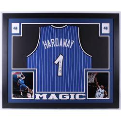 fd9f30e0a Penny Hardaway Signed Orlando Magic 35x43 Custom Framed Jersey (JSA COA)