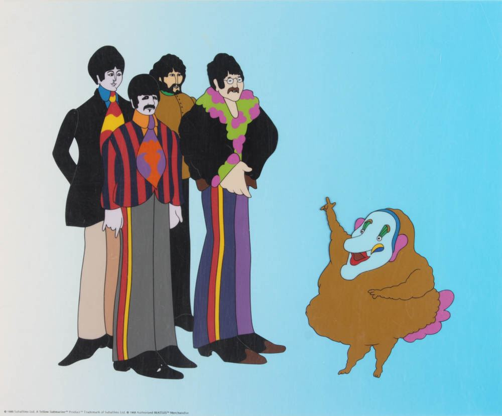 The Beatles A Yellow Submarine 13 5x16 5 Animation Cel