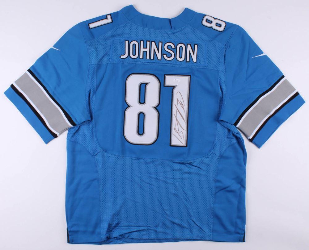 sneakers for cheap 72d5c b0858 Calvin Johnson Signed Detroit Lions Nike Jersey (JSA COA)