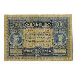 Austro-Hungarian Bank. 1880. Issued Banknote.