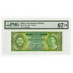 Government of Belize, 1976 Issue Banknote, Highest graded in PMG Census.