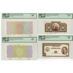 Banco Nacional Ultramarino. 1959. Group of Six Progressive Proof Notes.