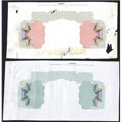 Bank of China, 1918 ÒChekiangÓ & ÒPekingÓ Branch Issue Undertint Proof Pair.