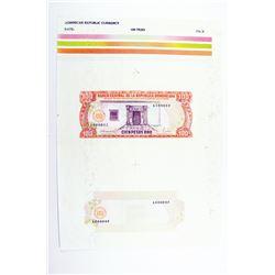 Banco Central De La Republica Dominicana 1988 Essay Proof Sheet
