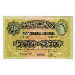 East African Currency Board. 1955. Issued Note.