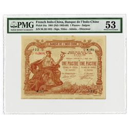 Banque De L'Indo-Chine, 1901 (ND 1903-09) Issued Bank Note.