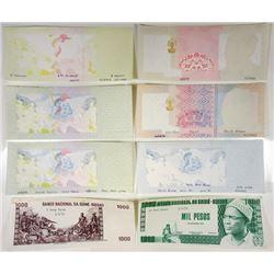 Banque Centrale da Guine-Bissau. 1978. Group of 8 Progressive Proof Notes.