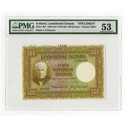 Landsbanki Islands, 1928 (ND 1945-1956), Specimen Banknote