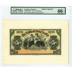 Bank of Nova Scotia, 1920 Proof Banknote.