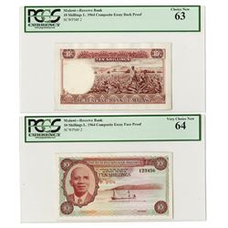 Reserve Bank of Malawi. 1964. Pair of Composite Essay Proofs.