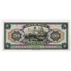 Banco de Mexico. 1925 Issue Proof Banknote.