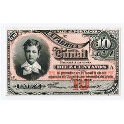 La Fabrica del Tunal. 1884 Issue Proof Banknote..