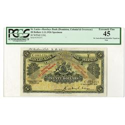 Barclays Bank (Dominion, Colonial & Overseas). 1926. Specimen Note.