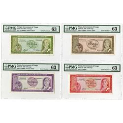 Government of Tonga. 1967. Matching Serial #2 Quartet.