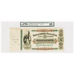 Banco De Londres Y Rio De La Plata, 186x Archival Issue Unlisted Earlier Date Variety.