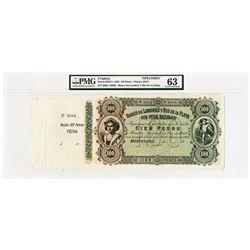 Banco De Londres Y Rio De La Plata, 1862 Issue Unlisted Specimen Variety.