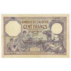 Banque de l'Algerie. 1932. Issued Banknote.