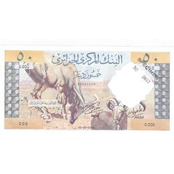 Banque Centrale d'Algerie. 1964. Specimen Banknote.