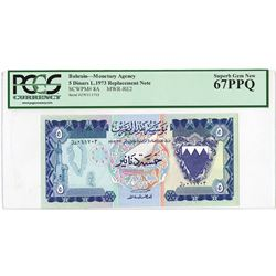 Bahrain Monetary Agency. ND (1973). Replacement Note.