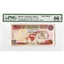 Bahrain Monetary Agency. ND (1986). Specimen Note.