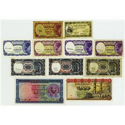 National Bank of Egypt & Others. Group of 11 Issued Banknotes.