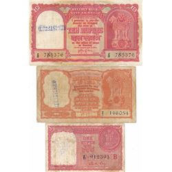 Reserve Bank of India. ND (ca. 1950's). Trio of Issued Haj Pilgrim Notes.