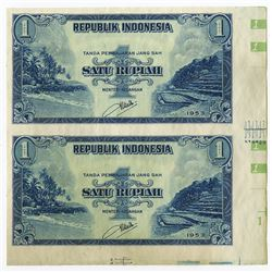 Republik Indonesia, 1953 Specimen/Proof Uncut Pair.