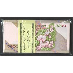 Central Bank of the Islamic Republic of Iran, ND 1993 Issue Serial #1 Pack of 100 Notes With Unliste