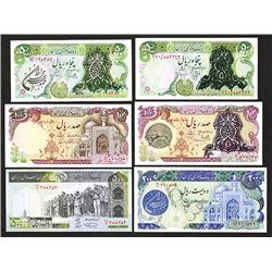 Bank Markazi Iran. 1970s-1980s. Group of 6 Notes.