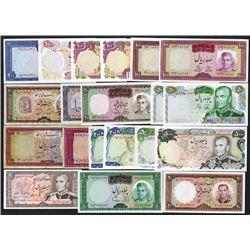 Bank Melli Iran. 1954 and latter Issues.